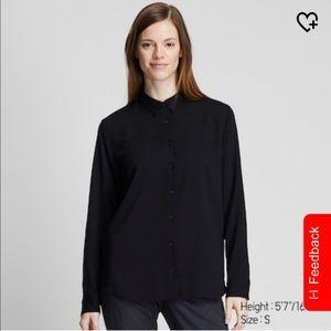 Uniqlo Women's Rayon Long-Sleeve Blouse